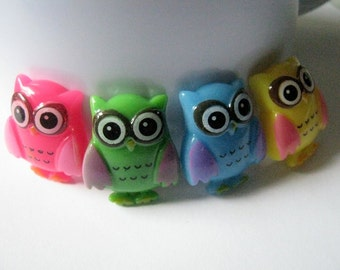 Resin Owl Cabochons