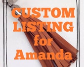 CUSTOM LISTING for Amanda -        1 x black leather Tassel, 1 x dark Tan leather Tassel with silver top