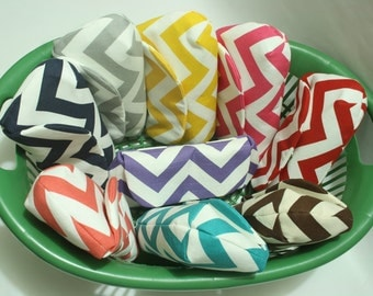 Bridesmaid Clutches, Set of 3, Choose your chevron color & lining, Wedding Clutches, Bridal Shower, Wedding Shower