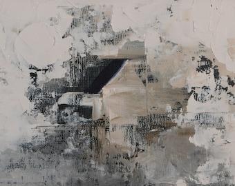 Seven Minutes of Blizzard — Original Oil Painting, Landscape Painting, Abstract Landscape, Original Painting, Abstract Oil Painting, 5 x 7