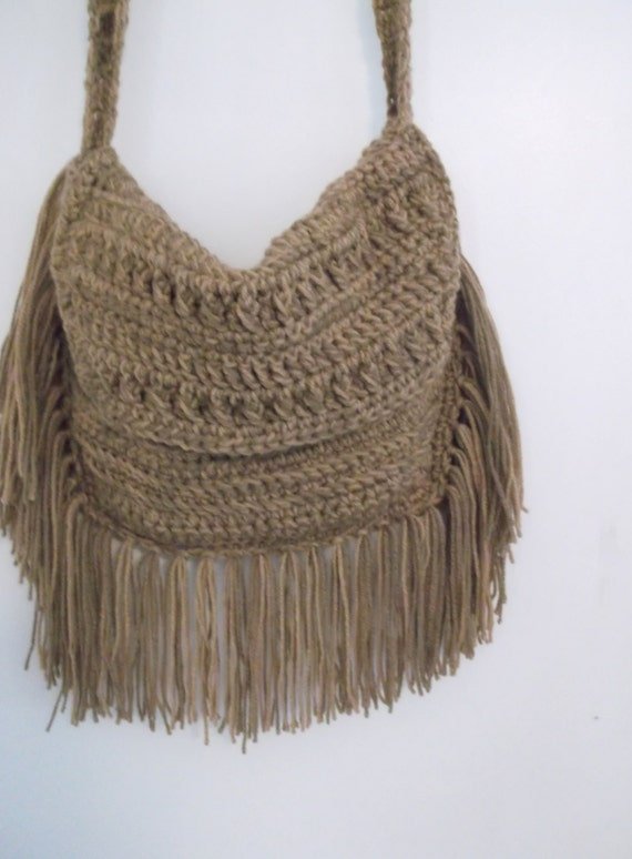 Crochet Fringe Bag : Bag with fringe, Bohemian fringe bag, Crochet Hippie Fringe Bag ...