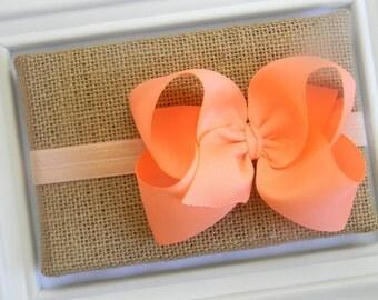 Peach Bow Headband - Peach Boutique Bow Headband