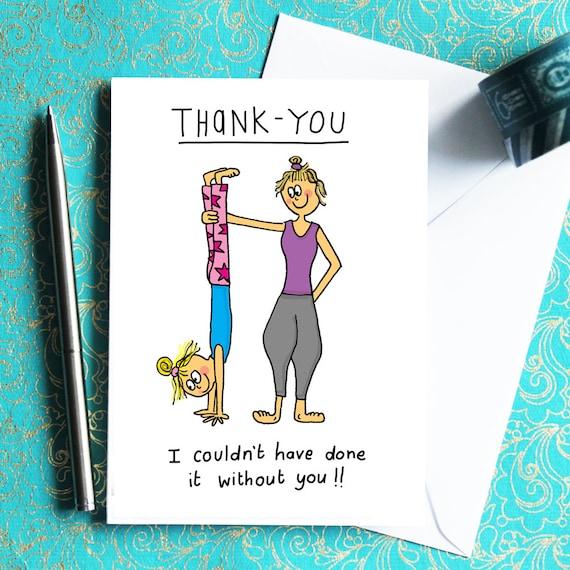 Thank You Card For Yogis Yoga Students And Yoga Teachers
