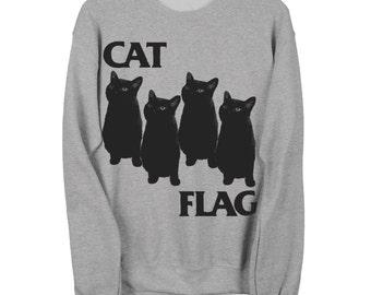 CAT FLAG Crew Gildan Sweatshirt