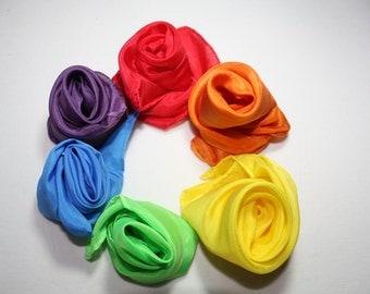 Rainbow Playsilks--set of 6