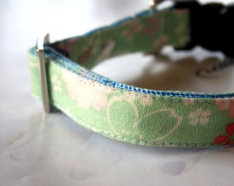 Light Green Cherry Blossom Dog Collar