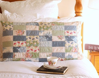 Pretty Patchwork Pillow Sham PDF Sewing Pattern