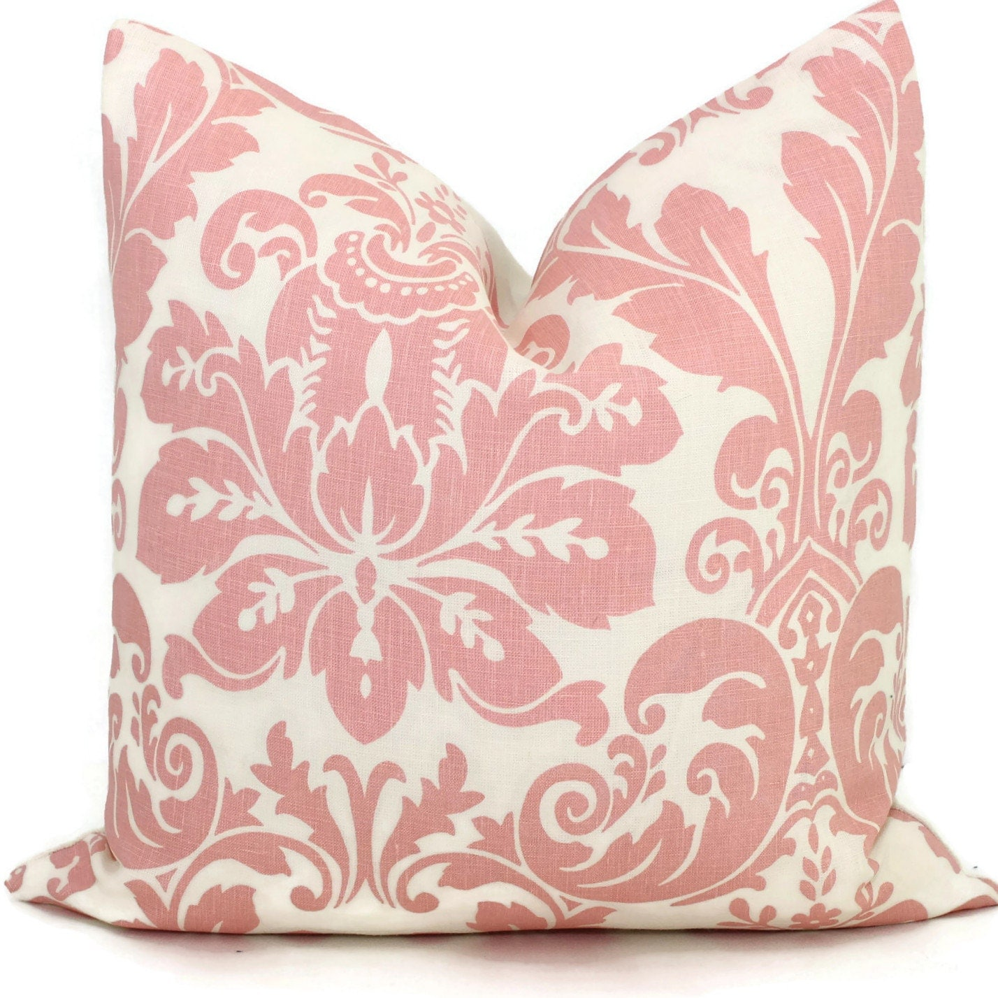 Queen Throw Pillows : Pantone color of the year Rose Quartz Quadrille Pillow Cover