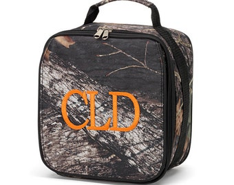Personalized Kids Camo Woods Print Lunch box bag Boy monogram