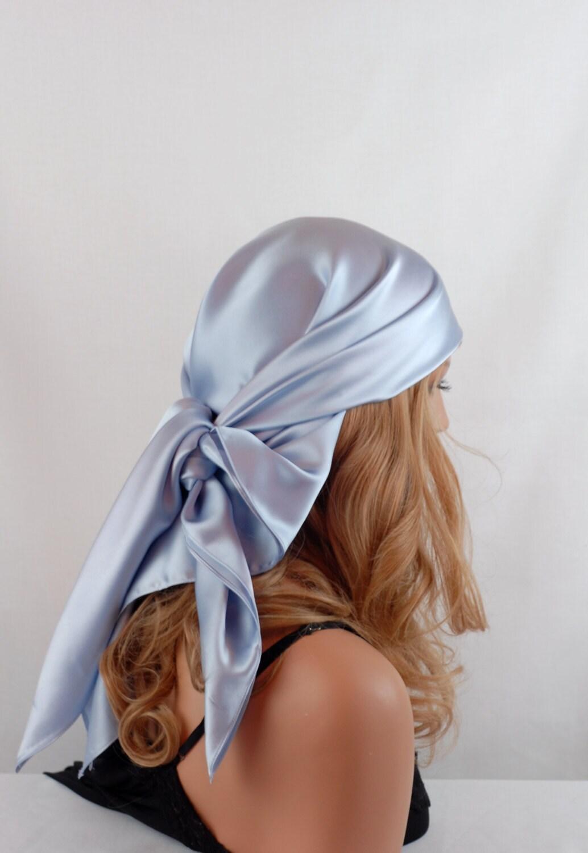 silk charmeuse scarf sleep or bandana scarf lavender