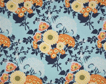 54020 - Joel Dewberry Botanique collection PWJD079 Bold bouquet in deep water color - 1 yard