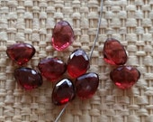 Faceted Garnet Briolettes Top Quality Natural Gemstones 6x8,5mm for your art or jewelry projects - 2 beads (I1015)