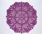 """Violet crochet doily,round doilies, lace, 16"""""""