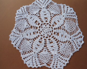 White crochet doily, 9
