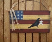 Patriotic wall hanging/door hanging, bird, flag, FREE SHIPPING