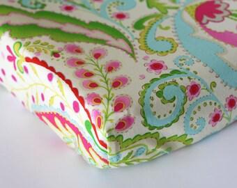 Changing Pad Cover, Baby Girl Nursery Bedding, Boho Nursery, Kumari Garden Change Mat Cover