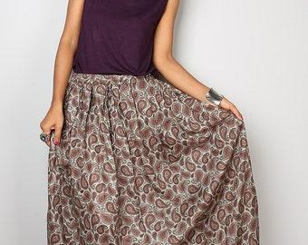 Boho Skirt - Paisley Skirt - Maxi Skirt : Feel Good Collection No.1