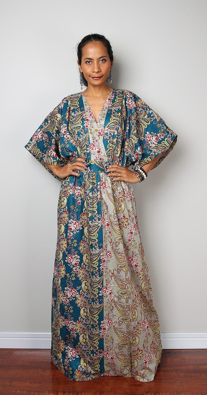 Boho Dress Kaftan Maxi Dress  Boho Kimono Collection No