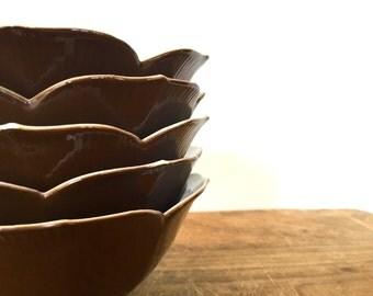 Set o 5 Tulip bowls