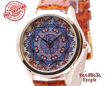 Watch for Women - Flower Pattern, Boho Chic Style Womens Watch, Gifts for Women, Gift Ideas for Wife, Romantic Gifts for Her - Free Shipping