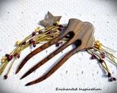 Rosewood Handmade Hair Fork