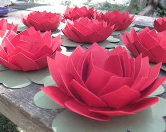 Lotus Flower. CHOOSE YOUR COLORS. Wedding, Event, Favor. Guest Table Decoration