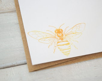 Bee Notecards, Bee Note Cards, Bee Stationery, Bee Cards, Stationary, Bee Paper Goods, Bee Gift, Cheap Gift, Notecard Set of 12