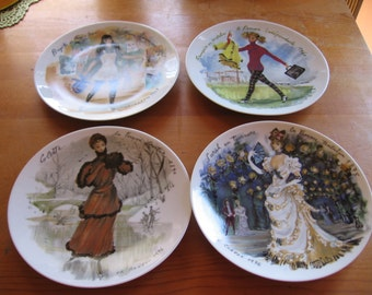 French Plates D'Arceau Limoges Fashion Women