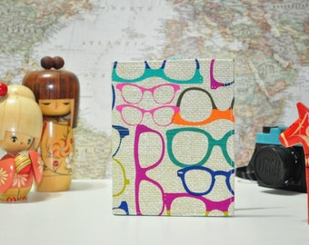 Nerd Glasses Passport Cover - Geek Chic Midori Passport Holder - Vegan Passport Wallet - Gift Under 10 - Gift for Traveler