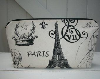 Paris Large Travel Size Makeup Bag