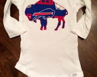 Buffalo Bills Onesie Made with Bills Fabric or T-Shirt for Children