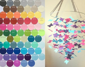 Custom Butterfly Mobile / / / Choose Your Colors / / / Nursery Mobile, Photo Prop, Baby Shower Gift, Crib Mobile.