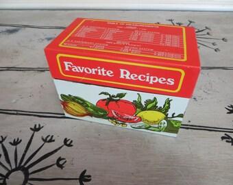 Recipe Box Recipe Cards Recipe Tin Tomatos Vegetable Decor Kitchen Tin Kitchen Decor Hand Written Recipe Cards