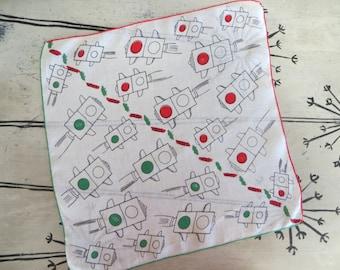 Stop and Go Handkerchief Red Light Green Light Fun Hankie Unique Handkerchief Red and Green Stoplight Handkerchief