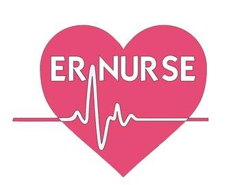ER Nurse Vinyl Decal - Emergency Room Nurse - Nurse Decal