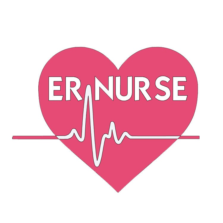 ER Nurse Vinyl Decal Emergency Room Nurse Nurse Decal