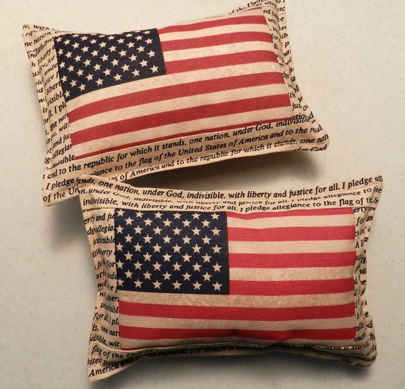 Handmade American Flag Old Glory 4th of July Bowl Filler Shelf Pillow Home Decor