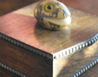 vintage nut top oak box