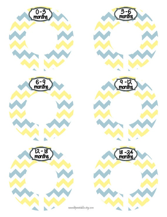 6 baby closet divider yellow closet organizer baby size for Baby clothes size organizer