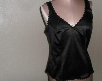 Vintage Camisole Black Cami size 34 Sears