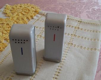 Refrigerator Salt Pepper Shakers Vintage Mid Century
