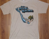 Vintage 1980s Florida Weeki Wachee Mermaid T-Shirt Original Tourist Travel