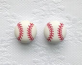 "Baseball Pair Plugs Gauges Size:  5/8"" (16mm)"