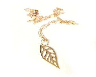 That's Just Rosy - Beautiful Rose Gold Filled Leaf Necklace Jewelry
