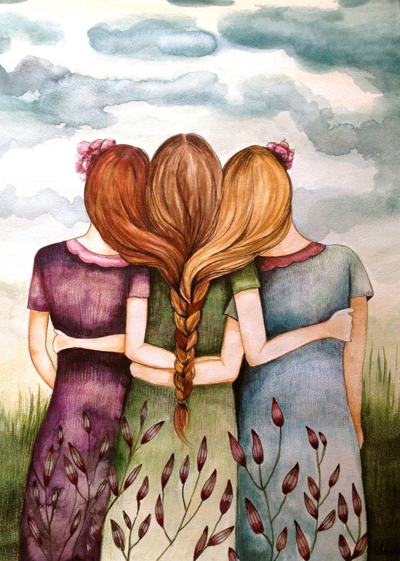 Three sisters art print