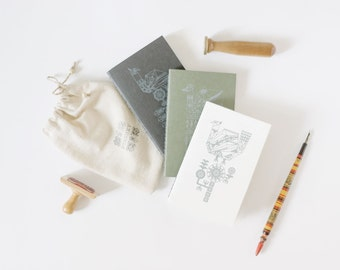 Geometric Print Eco Friendly Notebook - Screen Printed