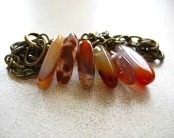 Agate Bracelet Agate Gemstone Handmade Artisan Chain Bracelet