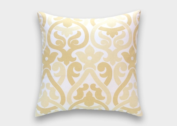Pale Yellow Throw Pillow Cover : Pale Yellow Decorative Throw Pillow Cover. Alex Floral. Choose