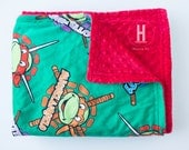 TMNT + Red Minky Blanket in 5 sizes