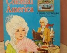 Colonial America Paper Dolls Book Uncut  Made in USA
